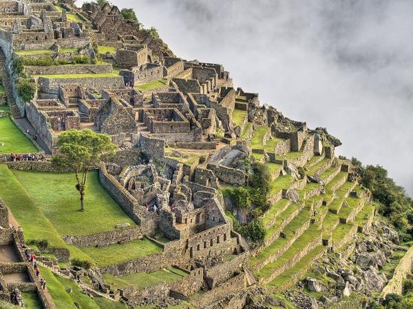 The three sectors of Machu Picchu